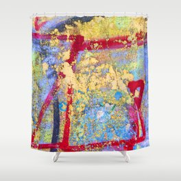 Textures in paint Shower Curtain