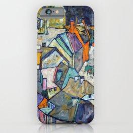 Egon Schiele - Edge of Town (Krumau Town Crescent III) 1918 iPhone Case