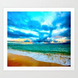 BYU Pounders Beach ... By LadyShalene Art Print