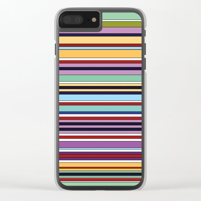 STRIPES Clear iPhone Case