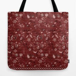 Paisleys in Maroon - by Fanitsa Petrou Tote Bag