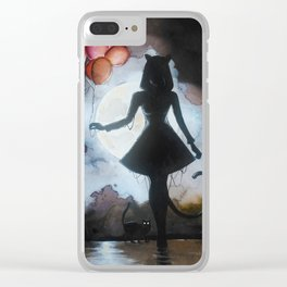 Mother of cats Clear iPhone Case