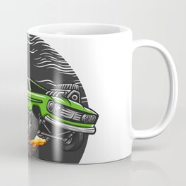 Muscle Car Hand Drawn Coffee Mug