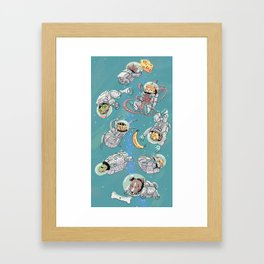 Space Animals Framed Art Print