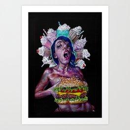 Boob-burger Art Print