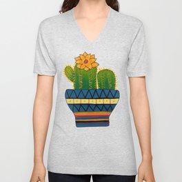 Cactus Painting Unisex V-Neck