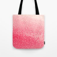 coral Tote Bags featuring CORAL by Monika Strigel