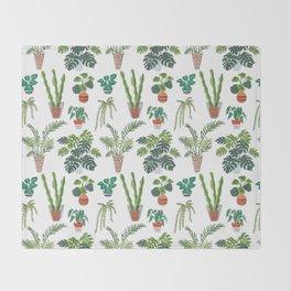 flowerpots pattern Throw Blanket