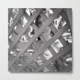 Caged In Metal Print