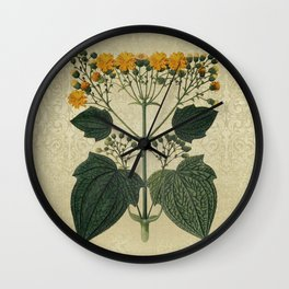 """""""Bouquet of vintage wild flowers"""" Wall Clock"""