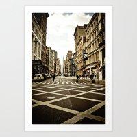 broadway Art Prints featuring Broadway by Randolph Pfaff