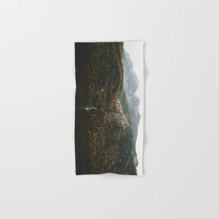 Autumn Waterfall at the Mountain Lake - Landscape Photography Hand & Bath Towel