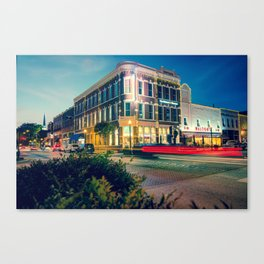 Bentonville Arkansas Downtown Square at Dusk Canvas Print