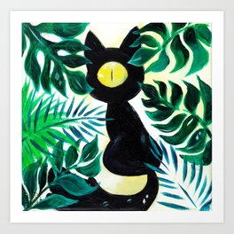 BuBly the Cat Art Print