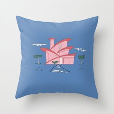 Pink Panther's Modern House Throw Pillow