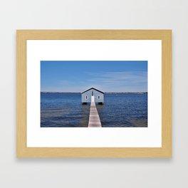 BOAT SHED Framed Art Print