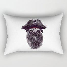 Capt. Blackbone the pugrate Rectangular Pillow