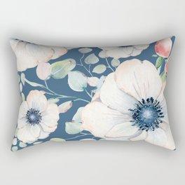 Summer Flowers Blue #society6 #buyart Rectangular Pillow