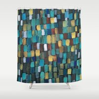 klimt Shower Curtains featuring New Klimt  by Angela Capacchione