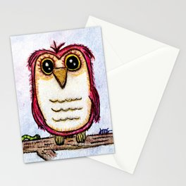 Owl at Rest - Watercolor Stationery Cards