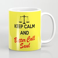 better call saul Mugs featuring Better Call Saul by DeBUM
