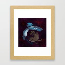 Idiots in space Framed Art Print
