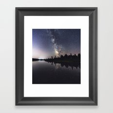 Rotate with the Galaxy Framed Art Print