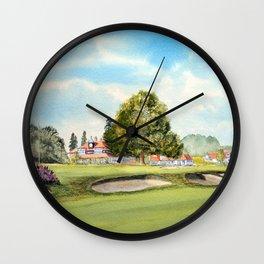 Sunningdale Golf Course 18th Green Wall Clock