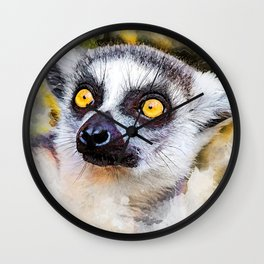 Lemur #lemur #animals Wall Clock