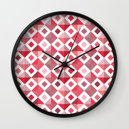 Floor-ish Red Wall Clock