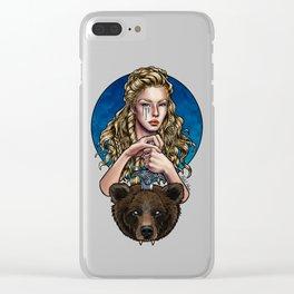 Goldilocks, Viking Bear Hunter Clear iPhone Case