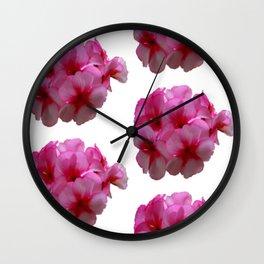 Pink bloom repeat III Wall Clock
