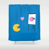 office Shower Curtains featuring Office Romance by Byway