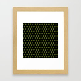 Hops Black Pattern Framed Art Print