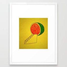 To Watermelon Framed Art Print
