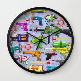Vintage Toy Guns Wall Clock