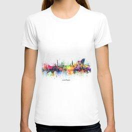 copenhagen skyline artistic T-shirt