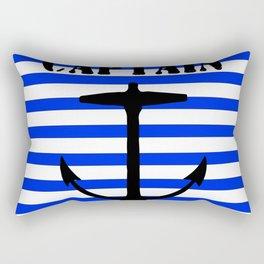 Captain and anchor logo Rectangular Pillow