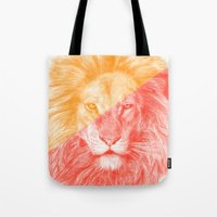 eric fan Tote Bags featuring Wild 3 by Eric Fan & Garima Dhawan by Garima Dhawan