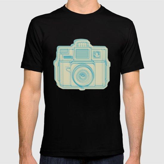 I Still Shoot Film Holga Logo - Turquoise/Tan T-shirt