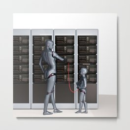 Petabytes Metal Print