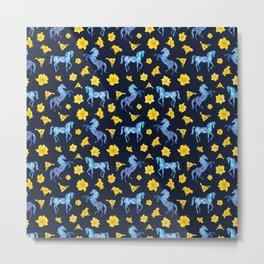 Precious blue horses Metal Print