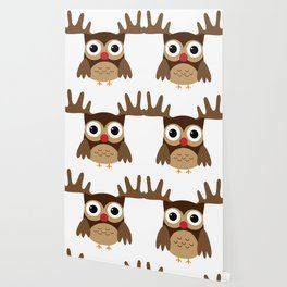 Reindeer Owl Wallpaper