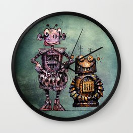 Two Kid's Robots Wall Clock