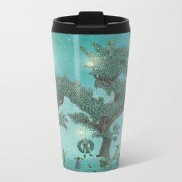 The Night Gardener - Dragon Tree night option  Metal Travel Mug