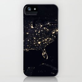 United States at Night iPhone Case
