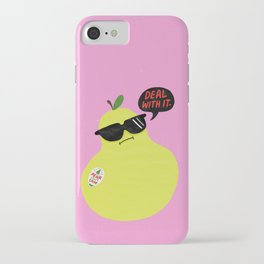 Pear Don't Care iPhone Case