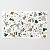 toddler Area & Throw Rugs featuring Animal Chart by Yuliya