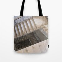 escher Tote Bags featuring Escher by KMZphoto