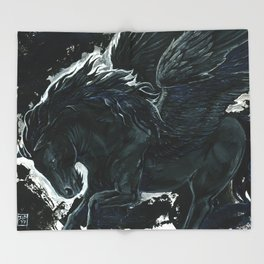 Dark Pegasus Throw Blanket